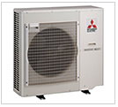 Mitsubishi multi-room ductless air conditioning heat pumps