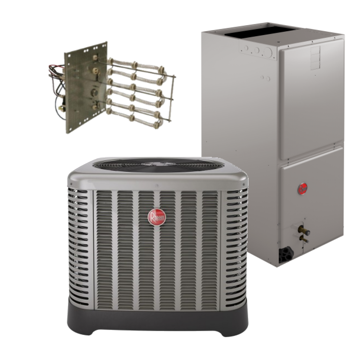 #9C2F31 Rheem 15 SEER 1.5 Ton Heat Pump System In 1.5 Ton 2.0  Recommended 1097 Aircon Heat Pump pics with 1200x1200 px on helpvideos.info - Air Conditioners, Air Coolers and more