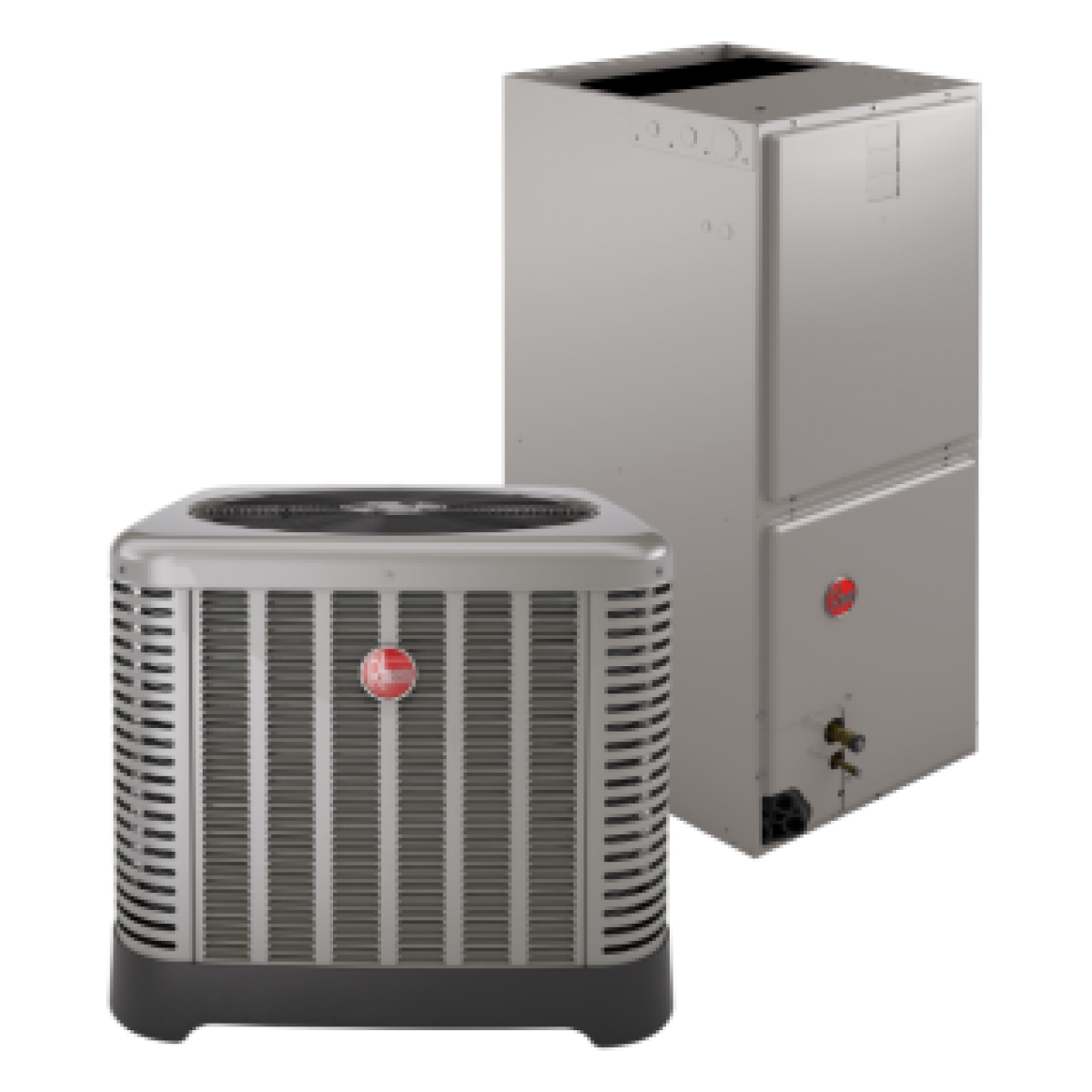 Rheem 15 seer 3 5 ton electric heat system for Electrical heating systems for homes