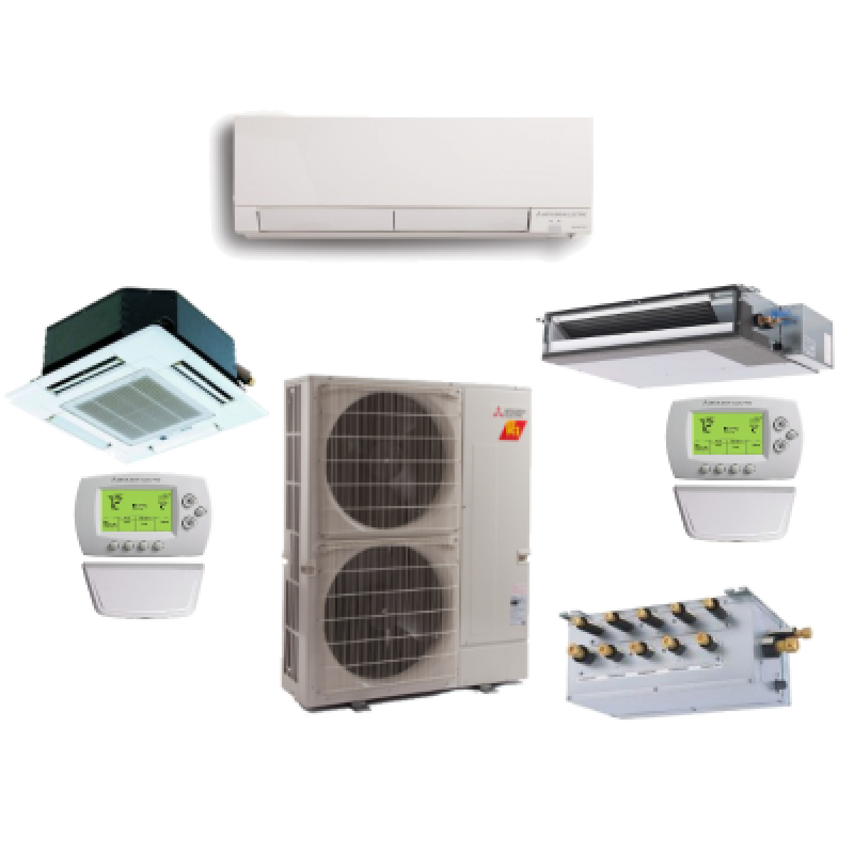Ac Unit Prices >> Mitsubishi 4 Zone 36K BTU Heat Pump Hyper Heat With up to Four Indoor Units in Multi Zone ...