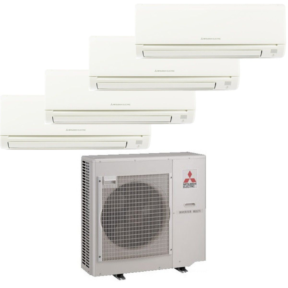 Mitsubishi Mr Slim 4 Zone Heat Pump With 4 9k Btu Indoor