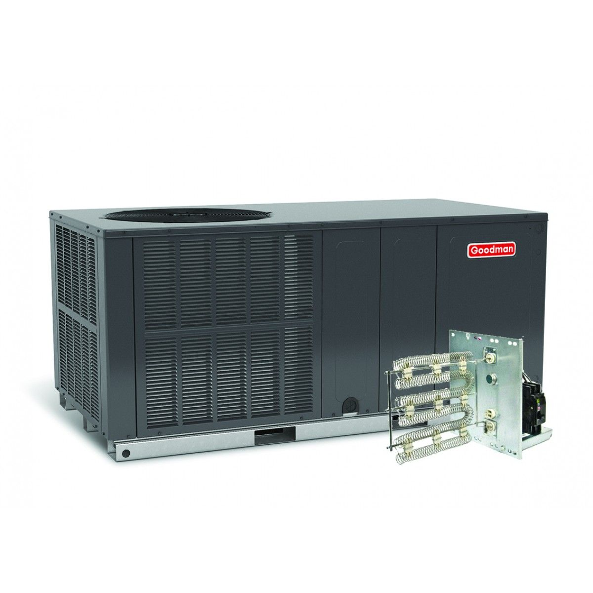 #B81315 Goodman 4.0 Ton 14 SEER Heat Pump Package Unit Horizontal  Most Effective 3055 Furnace And Ac Unit pictures with 1200x1200 px on helpvideos.info - Air Conditioners, Air Coolers and more