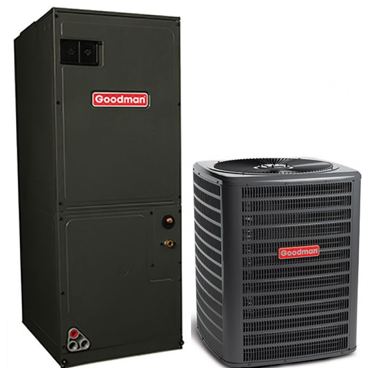#B11A1D Goodman 5.0 Ton 16 SEER Single Stage Air Conditioning  Best 3223 Goodman Heat And Air photos with 1200x1200 px on helpvideos.info - Air Conditioners, Air Coolers and more