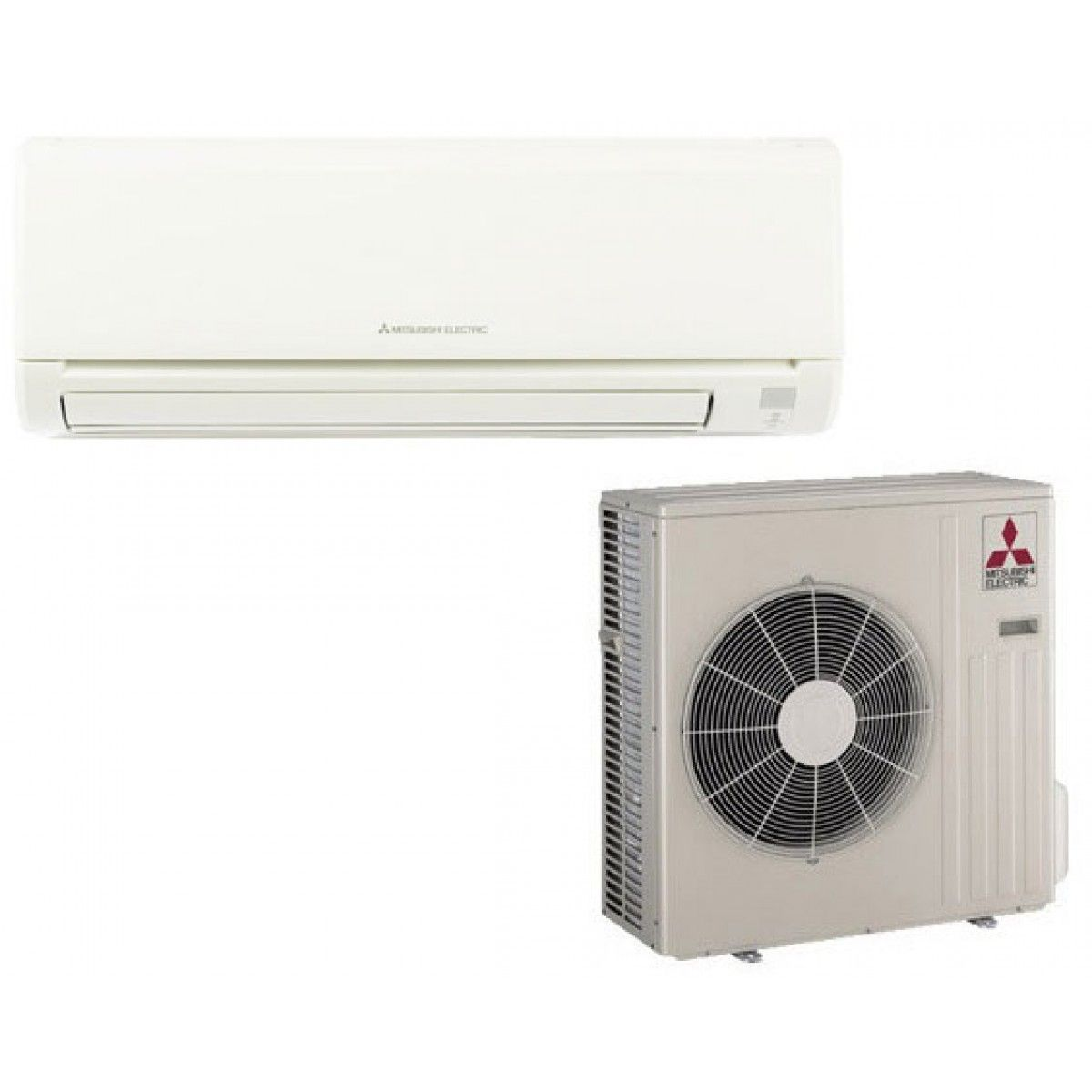 Mitsubishi mr slim 36 000 btu cooling only ductless mini for Ductless ac