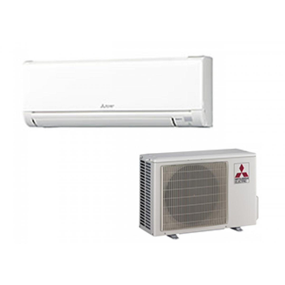 Mitsubishi 12k btu 23 5 seer cooling only system in for Ductless ac