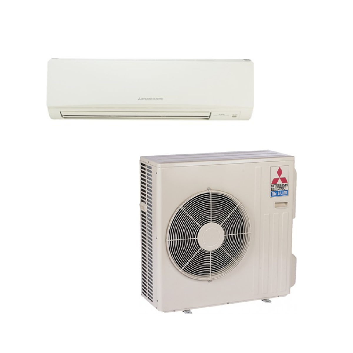 Mitsubishi mr slim 30 000 btu cooling only ductless mini for Ductless ac