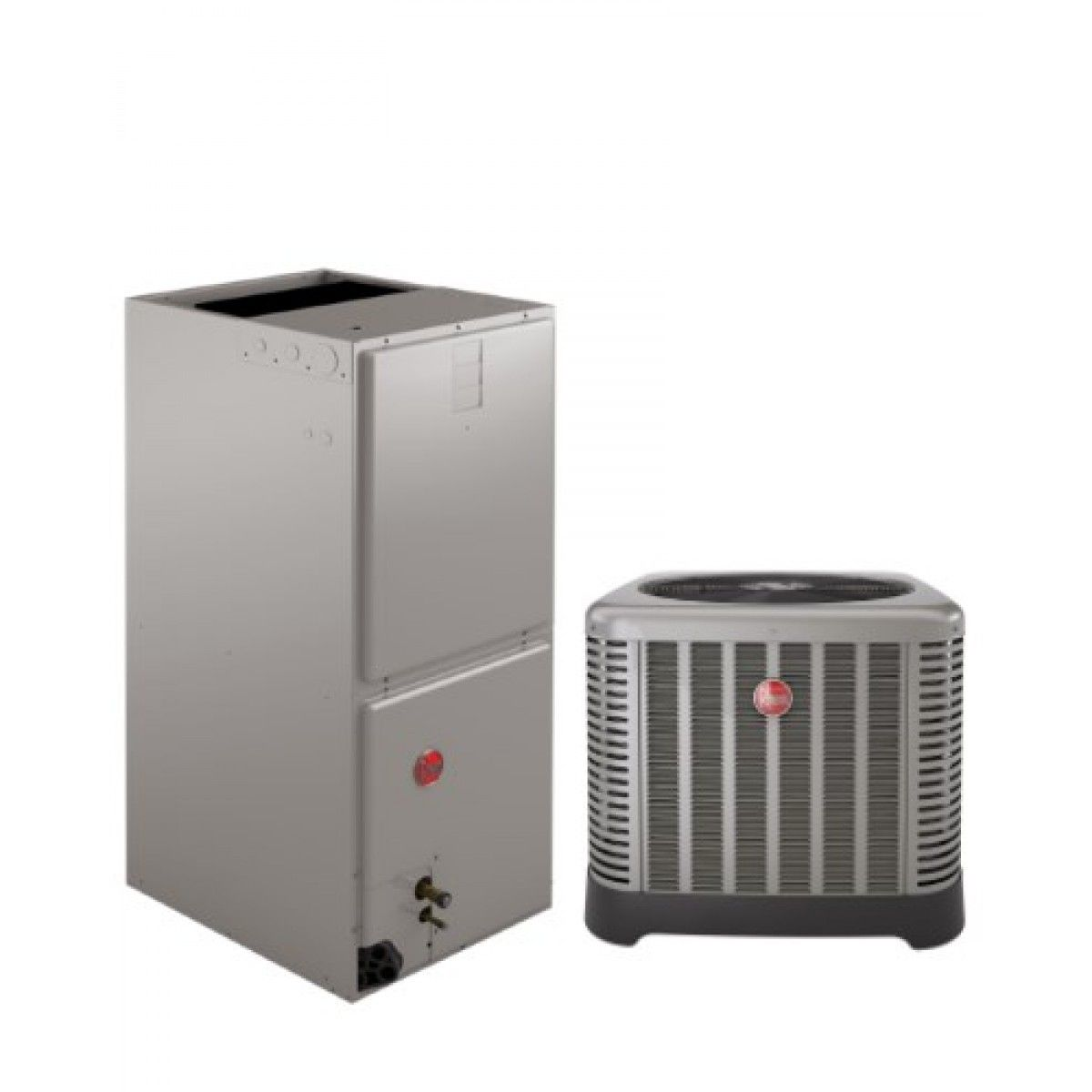 #9D2E33 Rheem 2.0 Ton 14 SEER Air Conditioning System With  Recommended 2617 Electric Heat Pump Efficiency pics with 1200x1200 px on helpvideos.info - Air Conditioners, Air Coolers and more