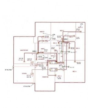 Residential Duct System Design for 2 Story Home