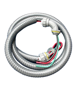 """Electrical whip 3/4"""" 60 amp 6'"""