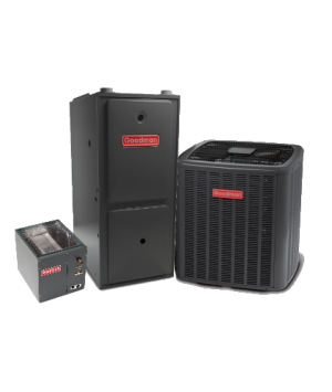 Goodman 15 SEER 2.5T 96% 80K BTU Two Stage Variable Speed Natural Gas System - Horizontal