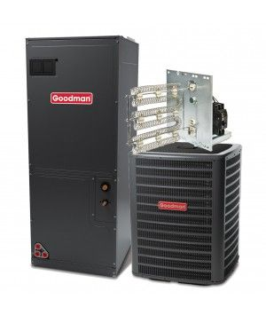Goodman 2.5 Ton 16 SEER Single Stage Air Conditioning System with Electric Heat