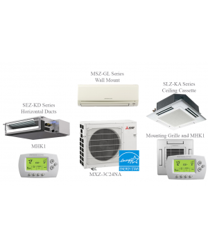 MXZ-4C36NA Split Air Conditioning and Heating 36K Btu - 4 Indoor Units