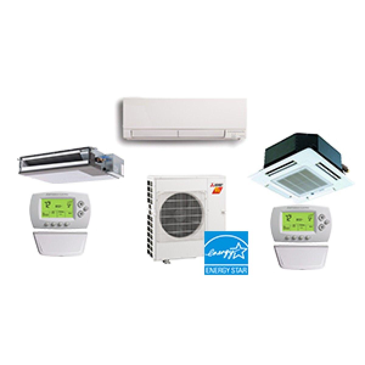 Mitsubishi 3 Zone 30K BTU Heat Pump Hyper Heat With up to Three Indoor Units