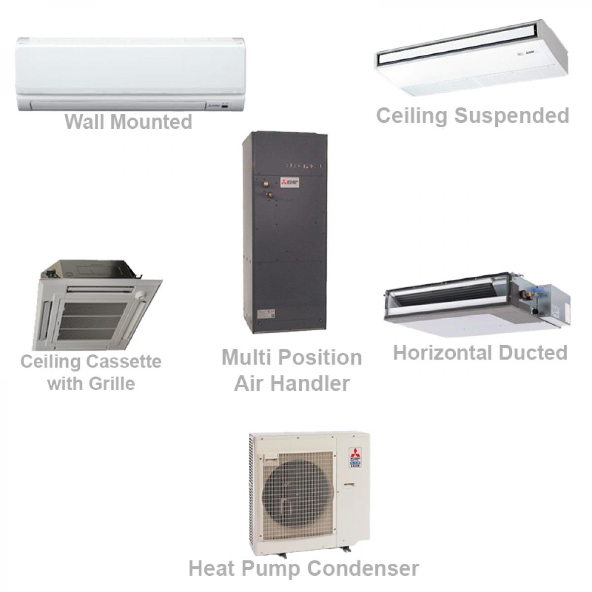 Mitsubishi P Series 24 000 Btu Ductless Heat Pump Air Conditioner