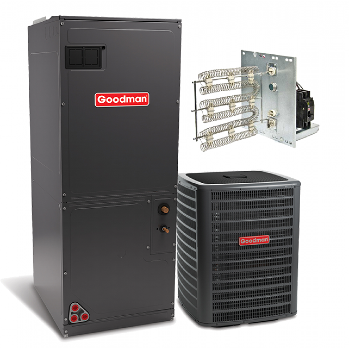 goodman 2.0 ton 16 seer r-410a air conditioning system with two