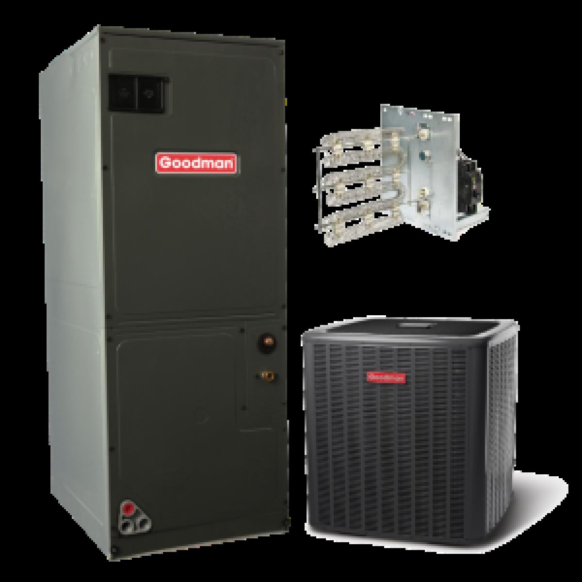 Goodman 14 Seer 2 5 Ton Electric Heat Split System 2 5
