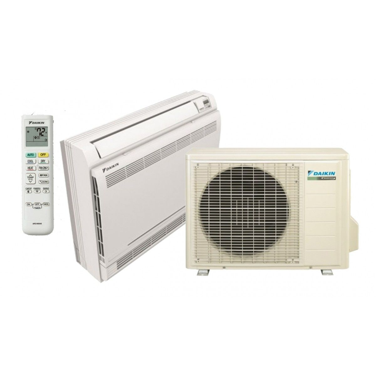 Daikin 12 k btu 20 seer floor mount heat pump system in for Ductless ac