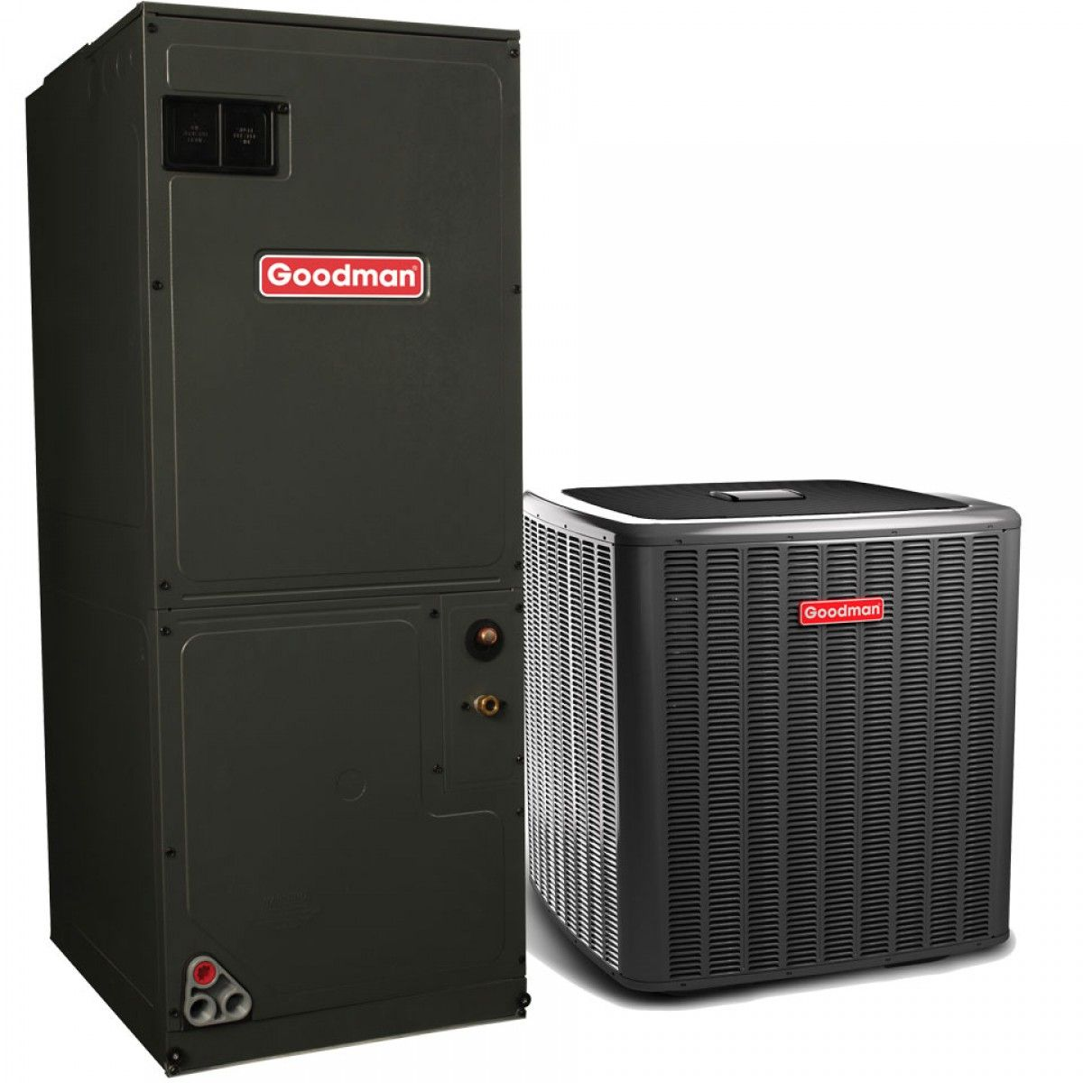 goodman ac unit. goodman 3.0 ton 18 seer r-410a two-stage air conditioning system with heat pump ac unit -