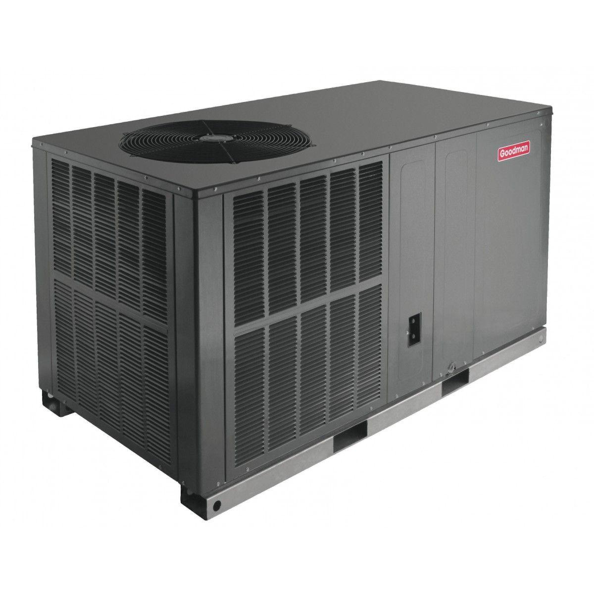 goodman 3.0 ton 14 seer electric heat package unit horizontal