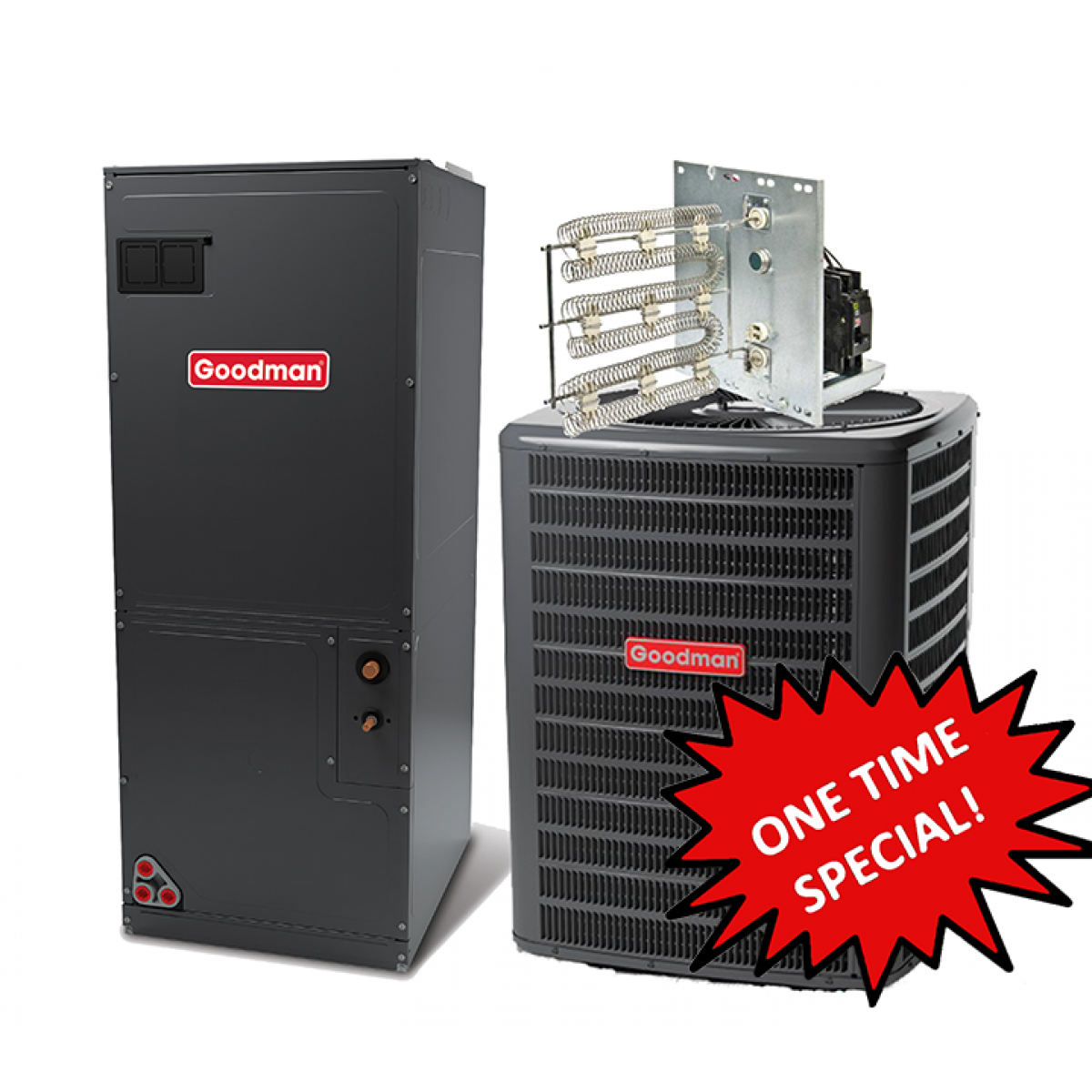 Heat Pump Systems : Goodman ton seer heat pump system one time