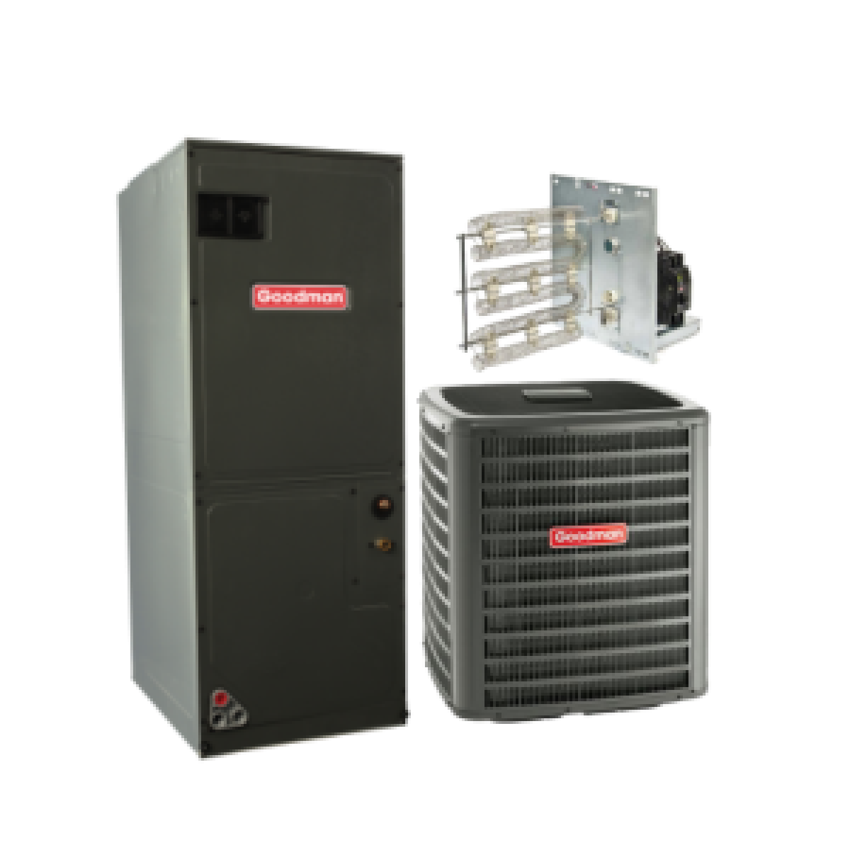 3 5 Ton Ac Unit >> Goodman 3.5 Ton 15 SEER Heat Pump Split System - 3.5 Ton - 5.0 Ton - AC/Heat Pump - Systems