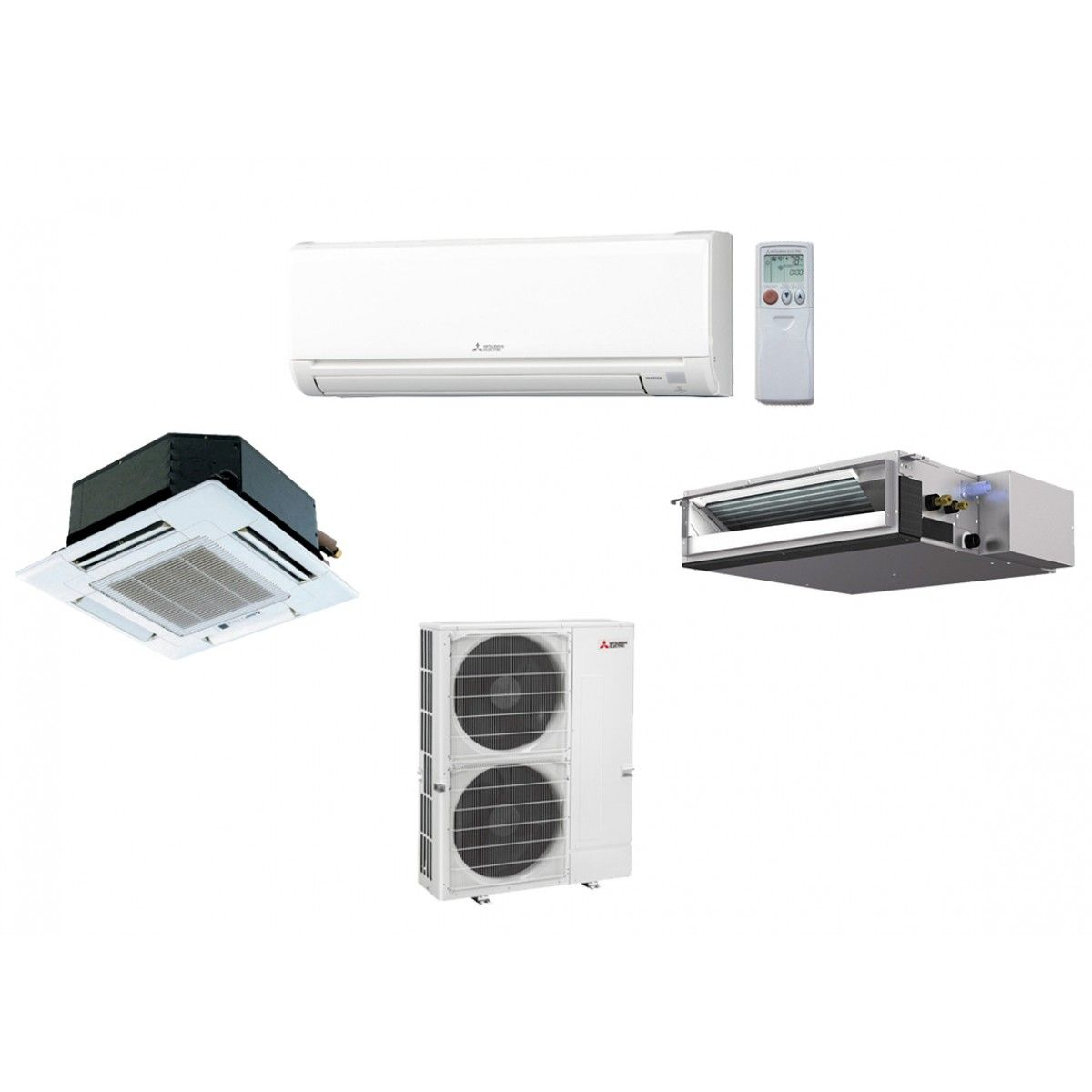 Indoor Heating And Cooling Units : Mxz c na split air conditioning and heating k btu up