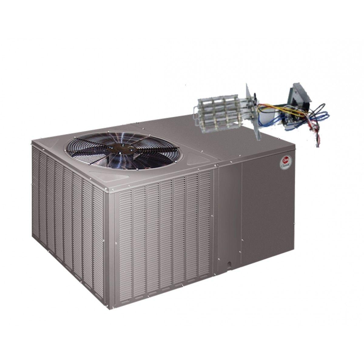 Rheem 14 Seer 3 5 Ton Heat Pump Package Unit Horizontal