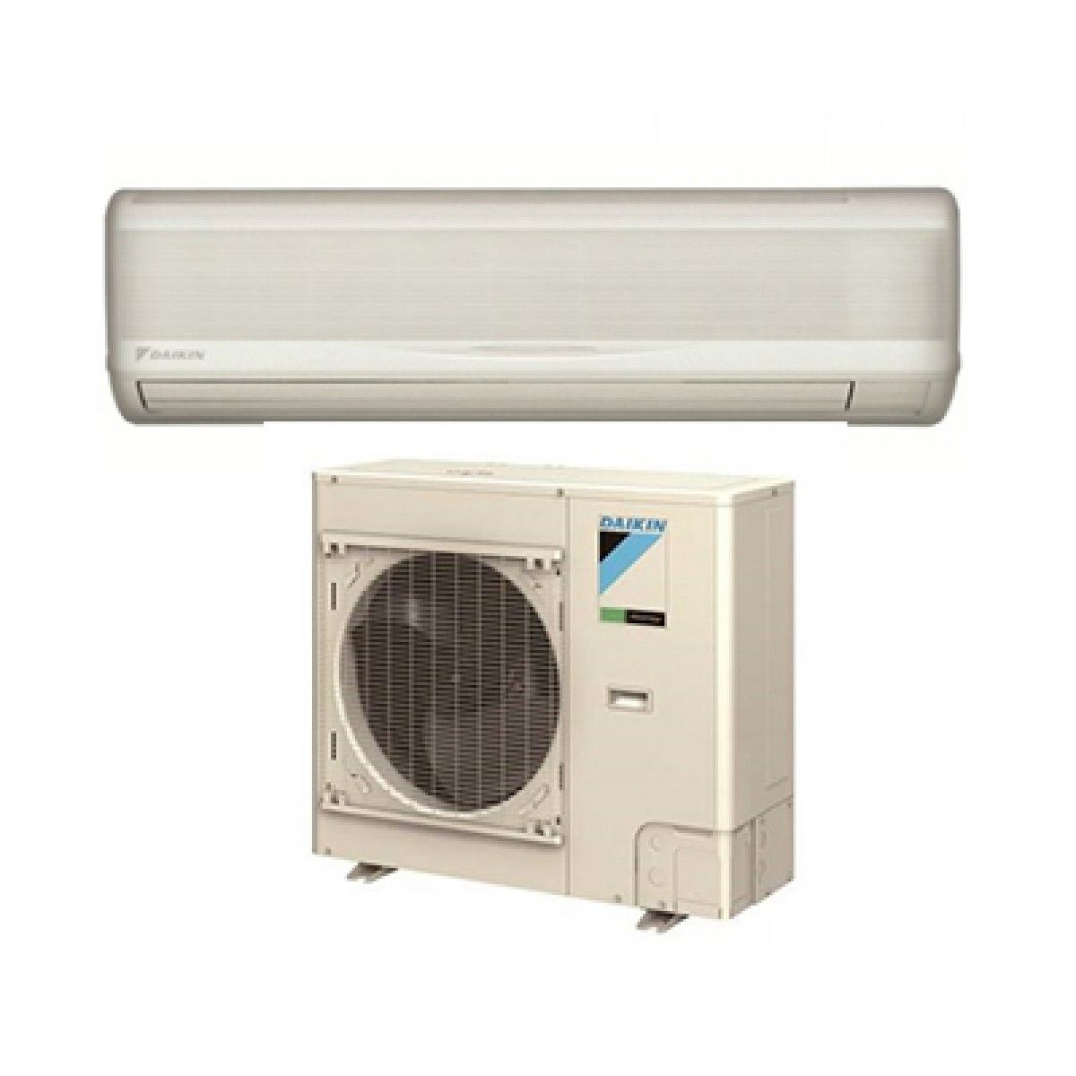 Daikin skyair 18k btu 18 6 seer heat pump system with wall for Ductless ac