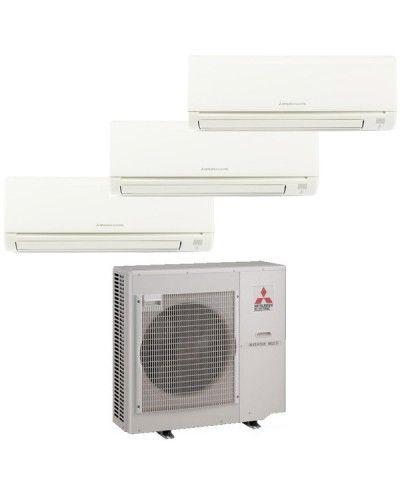 Mitsubishi Room Air Conditioner Reviews: Mitsubishi Mr Slim 3 Zone Heat Pump With (2) 9K BTU Indoor