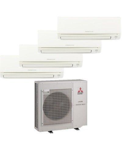 Mitsubishi Room Air Conditioner Reviews: Mitsubishi Mr Slim 4 Zone Heat Pump With (2) 9K BTU Indoor