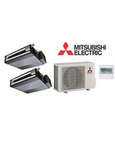 Mitsubishi Room Air Conditioner Reviews: Mitsubishi Mr Slim 2 Zone Ducted Heat Pump With 9K + 9K