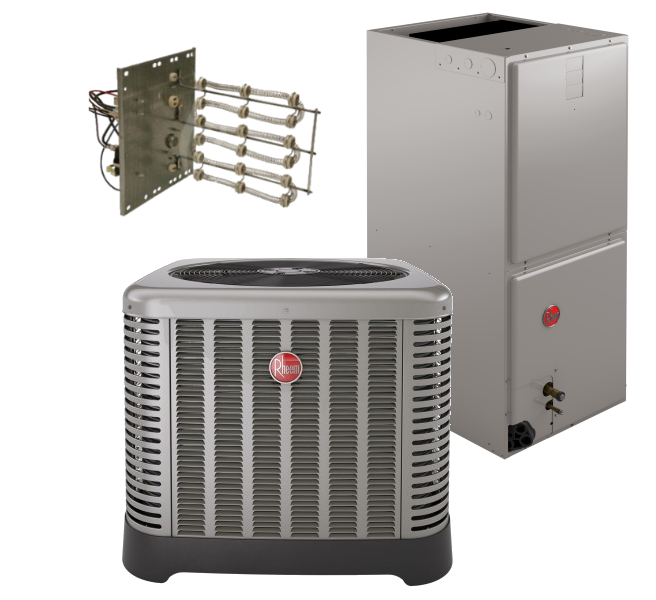 Rheem 15.5 SEER 4.0 Ton Heat Pump System
