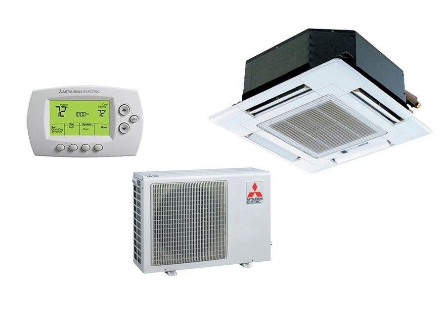 Mitsubishi 12,000 BTU Heat Pump W/Ceiling Recessed Indoor (16.0 SEER)