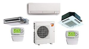 Mitsubishi 3 Zone 24K BTU Heat Pump Hyper Heat With up to Three Indoor Units