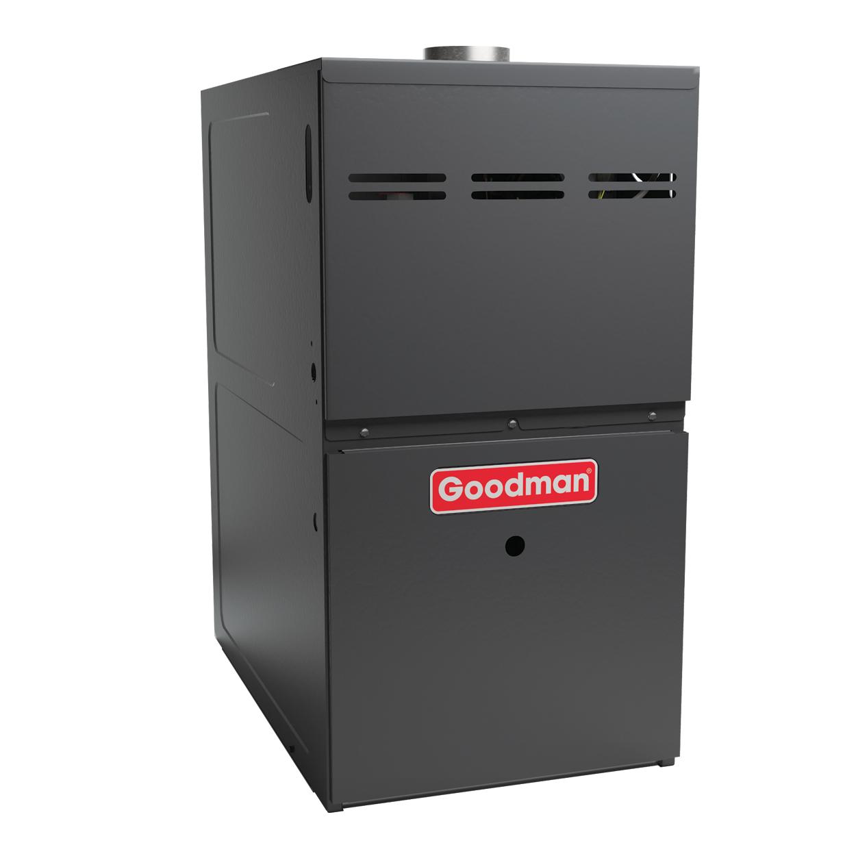 Goodman Gas Furnace - 80,000 BTU 80% Natural Gas Or Propane Two Stage Upflow/Horizontal - GMEC800805CN