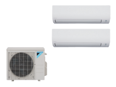Daikin 2 Zone 18K BTU Heat Pump With Two (2) 9K BTU Indoor Units