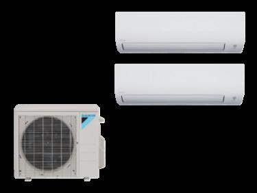 Daikin 2 Zone Mini Split Heat Pump AC System 2MXS18NMVJU - 18,000 BTU  With 2 9,000 BTU Wall Mounted Units