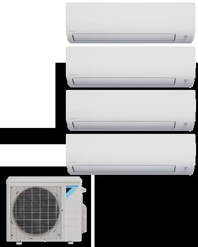 Daikin 4 Zone 36K BTU Heat Pump With Four (4) 9K BTU Indoor Units