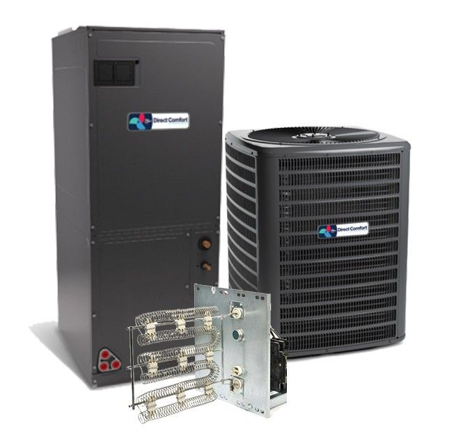 Direct Comfort 3.0 Ton 16 SEER Two Stage Air Conditioning System with Electric Heat
