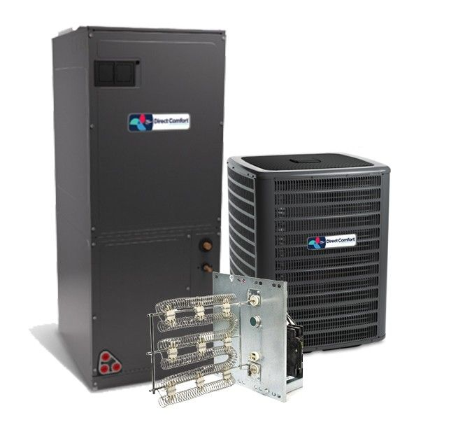 Direct Comfort 2.0 Ton 16 SEER R-410a Air Conditioning System with Two Stage Heat Pump