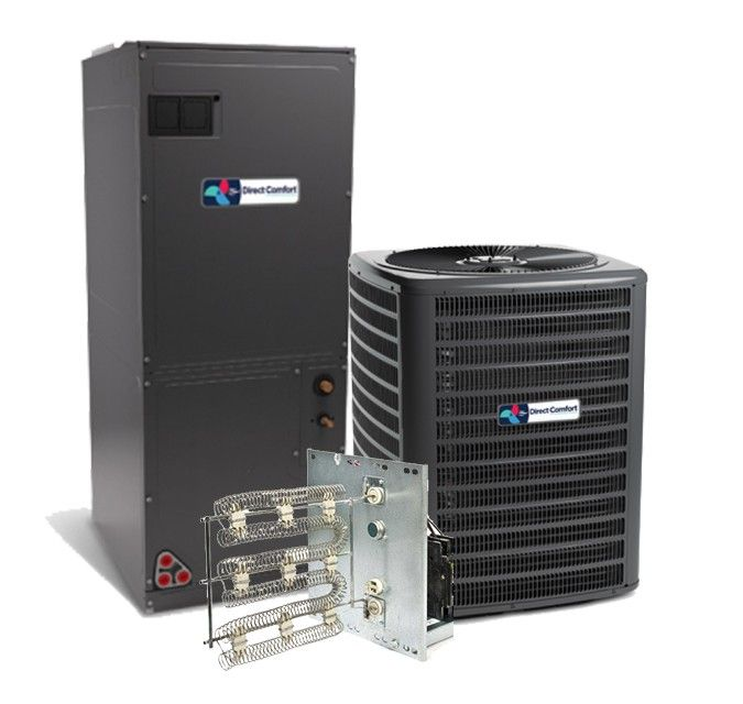 Direct Comfort 1.5 Ton 16 SEER Single Stage Air Conditioning System with Electric Heat
