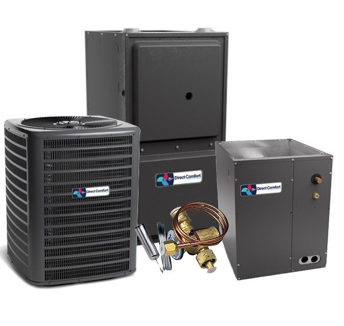Direct Comfort 15 SEER 2.5 Ton 96% 80K BTU Two Stage Variable Speed Natural Gas System - Downflow