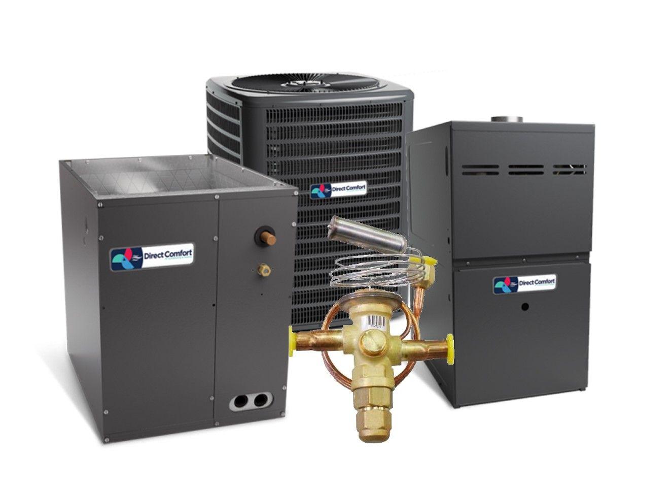 Direct Comfort 14 SEER 3.0 Ton 60K BTU 80% Efficient One Stage Gas Upflow System