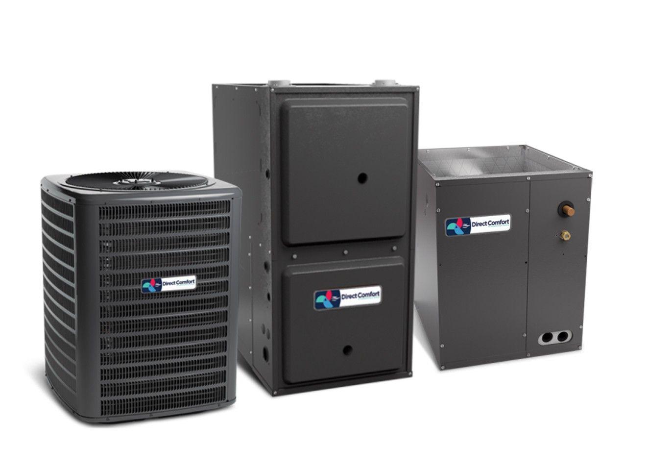Direct Comfort 4.0 Ton 14 SEER 80K BTU 96% Single Stage Natural Gas System Upflow