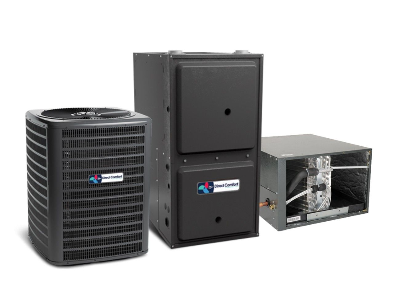 Direct Comfort 5.0 Ton 14 SEER 100K BTU 96% Single Stage Natural Gas System Upflow