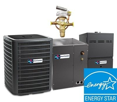 Direct Comfort 2.0 Ton 18 SEER  Two Stage System with 96% Efficient 60K BTU Natural Gas Furnace Two Stage Variable Speed Upflow Energy Star