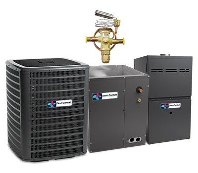 Direct Comfort 2.0 Ton 18 SEER  Two Stage System with 96% Efficient 40K BTU  Natural Gas Furnace Two Stage Variable Speed Upflow Energy Star