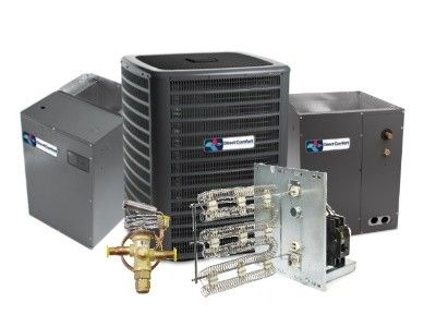 Direct Comfort 3.0 Ton 16 SEER Heat Pump Two Stage System with Variable Speed Air Handler Upflow