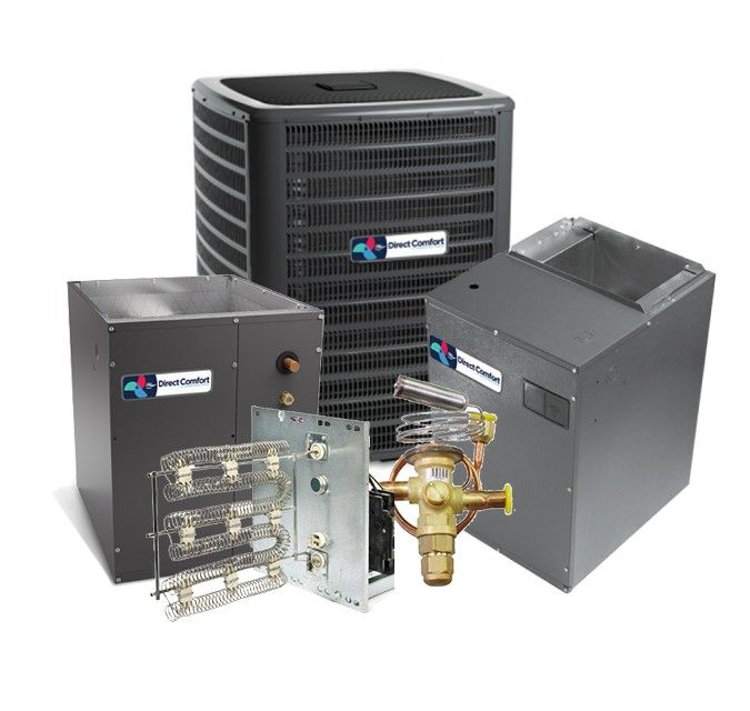 Direct Comfort 5.0 Ton 17 SEER Heat Pump Two Stage Variable Speed Split System  - UPFLOW