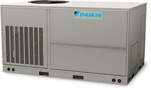 DAIKIN 4 Ton 15 SEER 12.5 EER Packaged Air Conditioners  Three-Phase 208V, R410A Multiposition